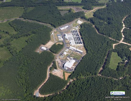 Aerial view of the Western Wake Water Reclamation Facility
