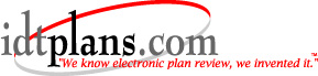 IDT Plans.com Logo - We know electronic plan review, we invented it
