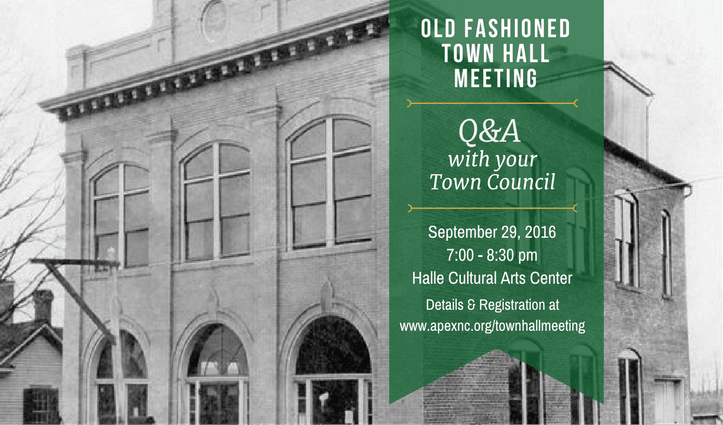 Old Fashioned Town Hall Meeting