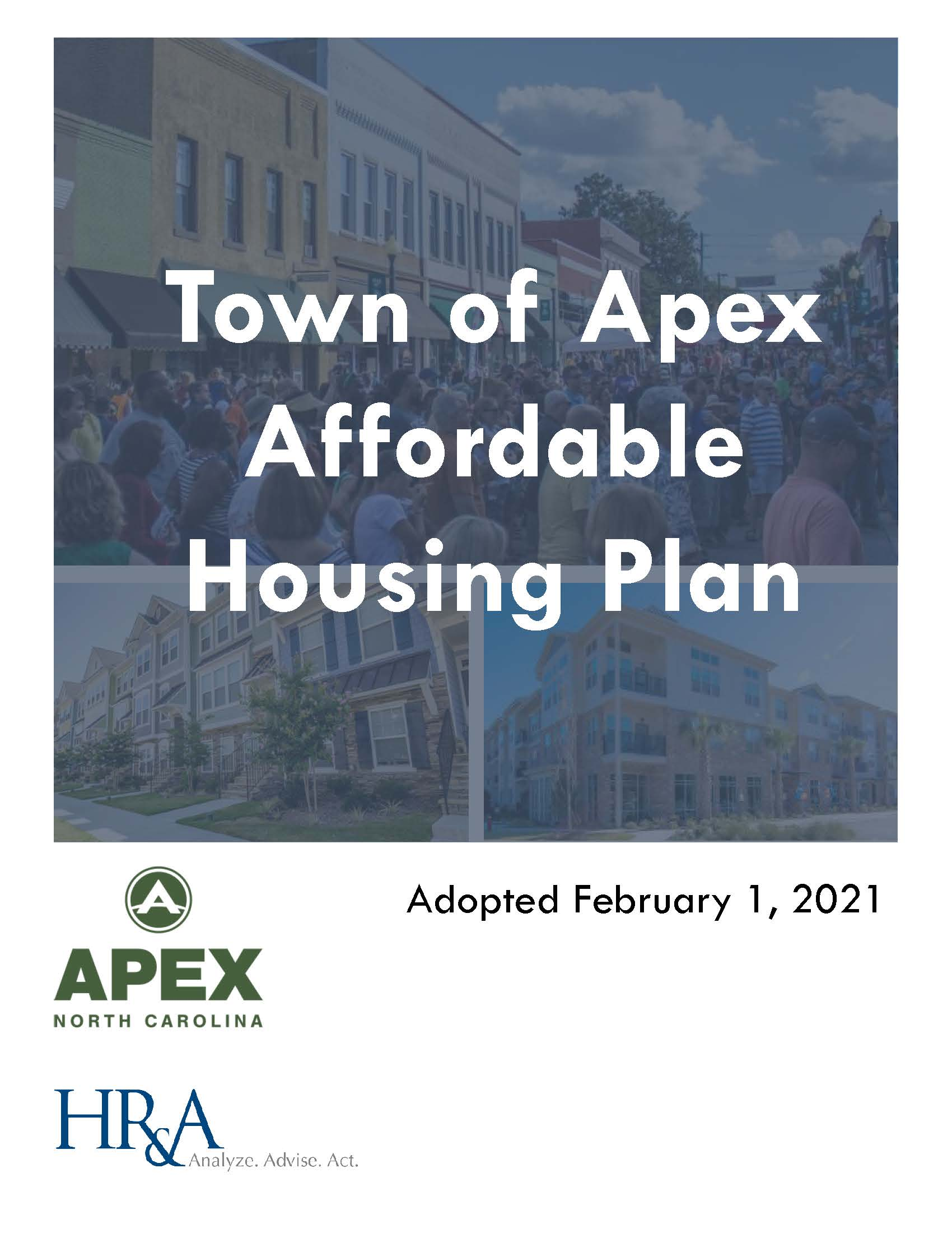 Apex Affordable Housing Plan_Adopted Cover Opens in new window